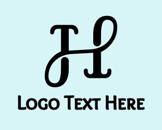 Elegent - Classic Cursive H logo design