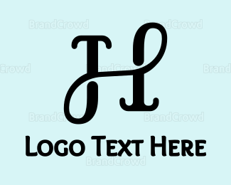Salon - Classic Cursive H logo design