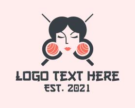 Restaurant - Japanese Geisha Sushi logo design