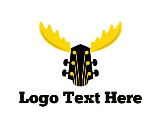 Moose - Moose Guitar logo design