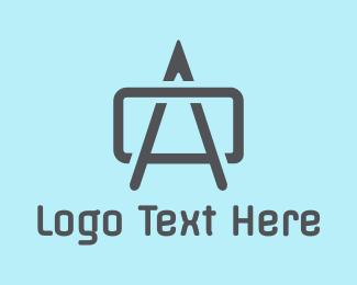 Blue Print - Modern A Box logo design