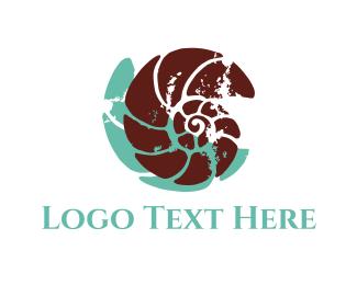 Seashell - Brown Shell logo design