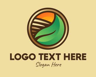 Farm - Leaf Farm Agriculture logo design