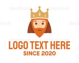 Facial Hair - Royal Cartoon King logo design