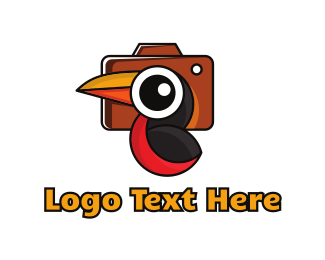 Tourist - Parrot Photography logo design