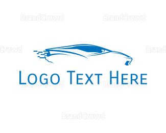 Drift - Blue Car logo design
