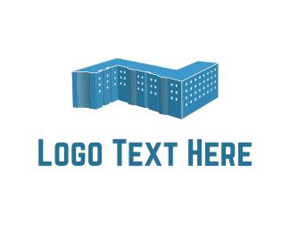 Empire - Blue Building logo design