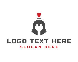 Plug - Plug Helmet logo design