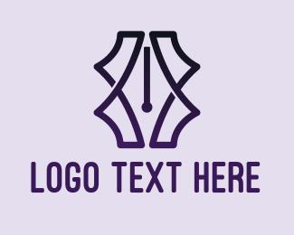 Pen - Fancy Pen Pattern logo design