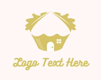 Hut - Oak Cupcake logo design