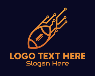 Rugby - Rugby Ball Tech logo design