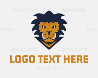 Basketball Team - Lion Game logo design