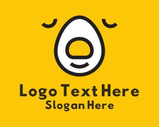 Poultry - Egg Bear Face logo design