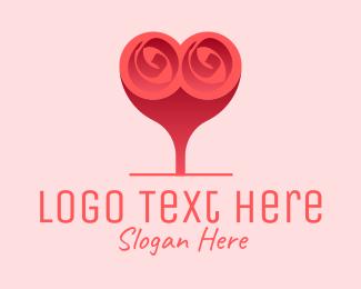 Marriage Counseling - Flower Heart Balloon logo design
