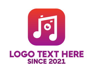 Youtube - Music & Camera logo design