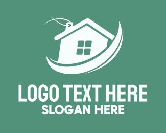 Sell - House Sale Label logo design