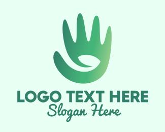 Life - Nature Farmer Hand  logo design