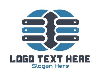 Server - Double Server logo design