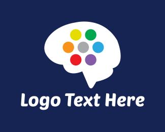 Memory - Colorful Brain logo design