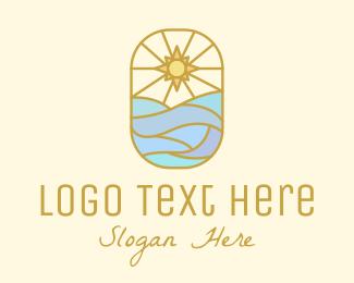 Sun - Ocean Sun logo design