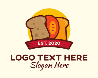 Biscuit - Bread Slices logo design
