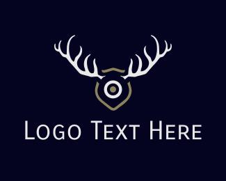 Antlers - Hunt Target logo design