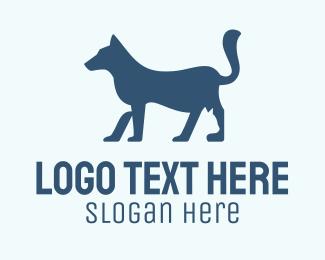 Dog Tail - Dog & Cat Silhouette logo design