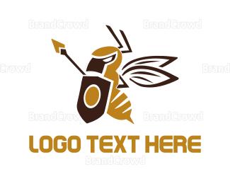Medieval - Soldier Wasp logo design