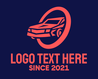 Drive - Red Car Mechanic logo design