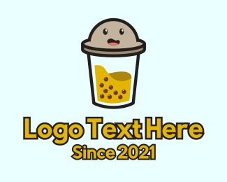Tapioca - Boba Milk Tea Mascot logo design