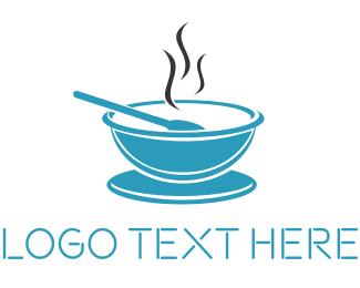Dish - Blue Bowl logo design