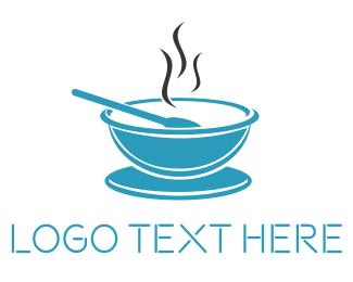 Soup - Blue Bowl logo design