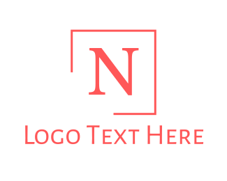 Pink Square - Pink Classic Letter N logo design