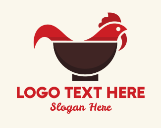 Hen - Chicken Bowl logo design