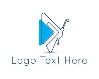 Dragonfly - Blue Fairy logo design