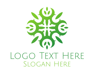 Ornamental - Green Ornamental Mandala logo design