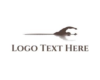 Resort - Swiming Trident  logo design