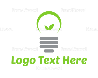 Bulb - Eco Lamp logo design