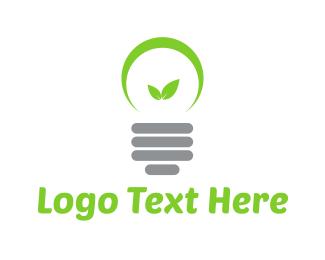 Renewable - Eco Lamp logo design