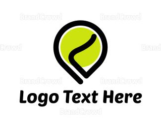 Tennis - Green Ball Location logo design