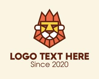 Team Mascot - Cool Lion Mascot logo design