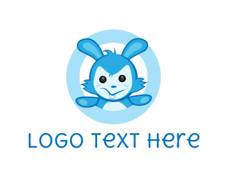 Bunny - Blue Rabbit logo design