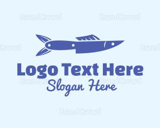 Recipe - Fish Knife logo design