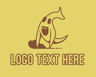 Alphabet - Brown Kangaroo Australian Mascot logo design