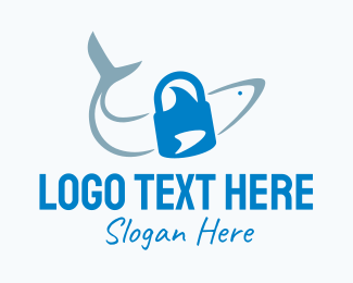 Security - Shark Lock Security logo design