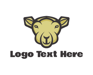 Herd - Sheep Cartoon  logo design