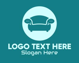 Inbox - Couch Chat Bubble logo design