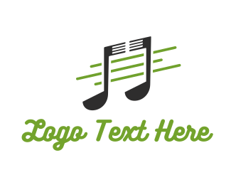 Song - Food Note logo design