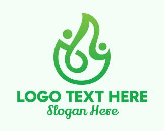 Planting - Green Plant Humans logo design