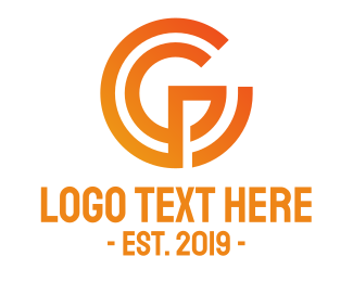 Identity - Orange Letter G Circle logo design